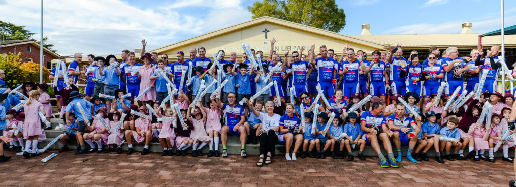 Ride For Life Riders catch-up with kids