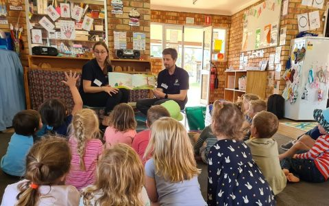 Royal Far West's Bushfire Recovery Program Team at a preschool visit
