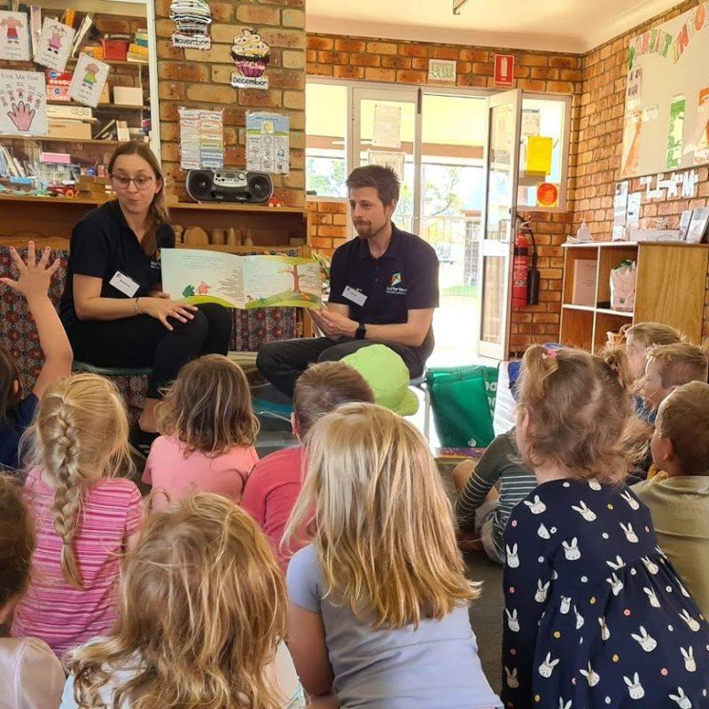 Royal Far West's Bushfire Recovery Program Team at a preschool visit
