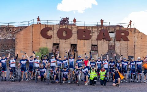 Ride for Country Kids 2021 - riders in Cobar.